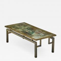 Philip and Kelvin LaVerne Beautiful Acid Etched and Patinated Bronze Chan coffee table - 956445
