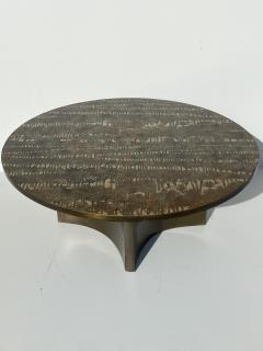 Philip and Kelvin LaVerne Eternal Forest Etched Bronze Coffee Table - 1810686