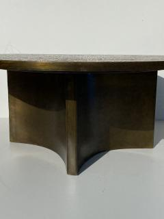 Philip and Kelvin LaVerne Eternal Forest Etched Bronze Coffee Table - 1810688