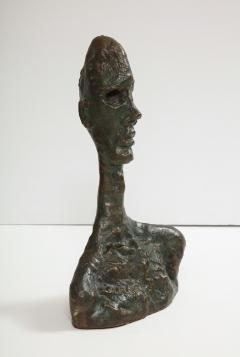 Philip and Kelvin LaVerne Giacomettis Soul Bronze Bust by Philip Kelvin Laverne - 1045342
