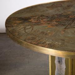 Philip and Kelvin LaVerne Mid Century Philip Kelvin LaVerne Acid Etched Bronze Pewter Chan Coffee Table - 2005049