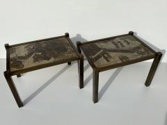 Philip and Kelvin LaVerne Pair of LaVerne TAO Chinoiserie Style Side Tables - 1771995