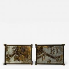 Philip and Kelvin LaVerne Pair of LaVerne TAO Chinoiserie Style Side Tables - 1772537