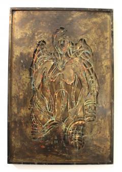 Philip and Kelvin LaVerne Philip And Kelvin LaVerne Bronze Enamel Wall Plaque - 1079870