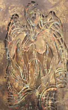 Philip and Kelvin LaVerne Philip And Kelvin LaVerne Bronze Enamel Wall Plaque - 1079871