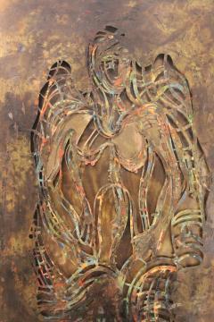 Philip and Kelvin LaVerne Philip And Kelvin LaVerne Bronze Enamel Wall Plaque - 1079872