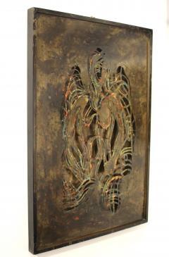 Philip and Kelvin LaVerne Philip And Kelvin LaVerne Bronze Enamel Wall Plaque - 1079873