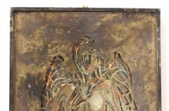 Philip and Kelvin LaVerne Philip And Kelvin LaVerne Bronze Enamel Wall Plaque - 1079874