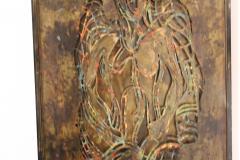 Philip and Kelvin LaVerne Philip And Kelvin LaVerne Bronze Enamel Wall Plaque - 1079876