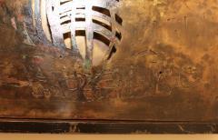 Philip and Kelvin LaVerne Philip And Kelvin LaVerne Bronze Enamel Wall Plaque - 1079879