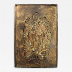 Philip and Kelvin LaVerne Philip And Kelvin LaVerne Bronze Enamel Wall Plaque - 1080442