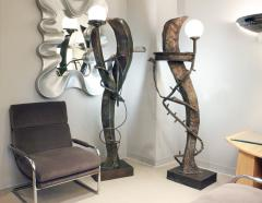 Philip and Kelvin LaVerne Philip Kelvin LaVerne Illuminated Bronze Sculpture Floor Lamps ca 1970 - 1220151