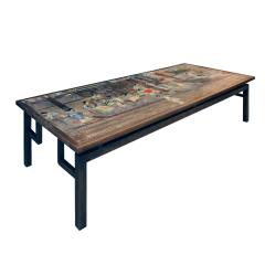 Philip and Kelvin LaVerne Philip Kelvin LaVerne Large Chin Ying Coffee Table 1960s signed  - 1123284