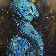 Philip and Kelvin LaVerne Philip Kelvin LaVerne Man In Contemplation Wall Sculpture 1960s Signed  - 1829857