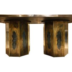 Philip and Kelvin LaVerne Philip Kelvin LaVerne Rare Chan Dining Table 1960s signed  - 1922104