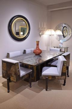 Philip and Kelvin LaVerne Philip Kelvin LaVerne Rare Chan Dining Table 1960s signed  - 1922105
