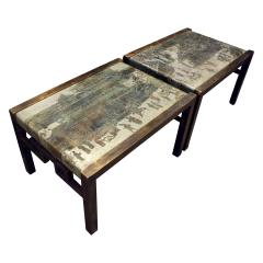 Philip and Kelvin LaVerne Philip Kelvin LaVerne Rare Pair of Festival Coffee Tables 1960s signed  - 763371