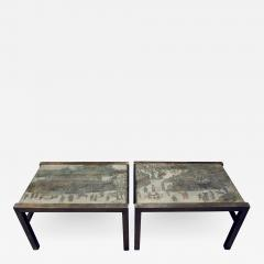 Philip and Kelvin LaVerne Philip Kelvin LaVerne Rare Pair of Festival Coffee Tables 1960s signed  - 770263