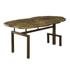 Philip and Kelvin LaVerne Philip Kelvin LaVerne Rare Turtle Coffee Table 1966 Signed  - 2069054