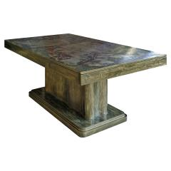Philip and Kelvin LaVerne Philip Kelvin LaVerne Rare and Important Extension Dining Table 1960s Signed  - 1413031