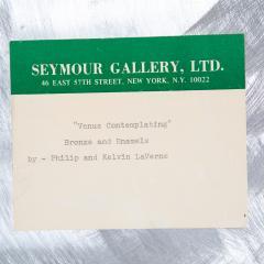 Philip and Kelvin LaVerne Philip Kelvin LaVerne Venus Contemplating Wall Sculpture 1960s Signed  - 1963265