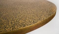 Philip and Kelvin LaVerne Philip Kelvin Laverne Etruscan Game Table in Acid Etched Bronze 1960s - 1553478
