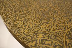 Philip and Kelvin LaVerne Philip Kelvin Laverne Etruscan Game Table in Acid Etched Bronze 1960s - 1553481