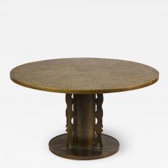 Philip and Kelvin LaVerne Philip Kelvin Laverne Etruscan Game Table in Acid Etched Bronze 1960s - 1554500