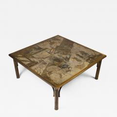 Philip and Kelvin LaVerne Philip and Kelvin LaVerne Patinated Brass and Pewter Chan Cocktail Table - 1120055