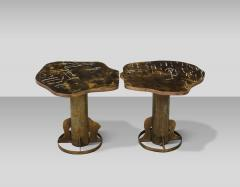 Philip and Kelvin LaVerne Rare Pair of Kissing Tables by Philip Kelvin LaVerne - 1462770