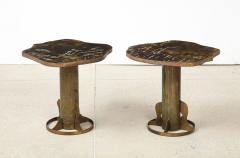 Philip and Kelvin LaVerne Rare Pair of Kissing Tables by Philip Kelvin LaVerne - 1462775