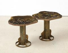 Philip and Kelvin LaVerne Rare Pair of Kissing Tables by Philip Kelvin LaVerne - 1462783