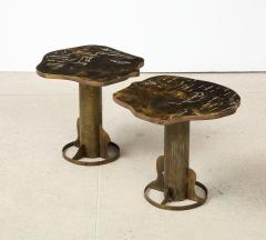 Philip and Kelvin LaVerne Rare Pair of Kissing Tables by Philip Kelvin LaVerne - 1462785