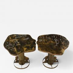 Philip and Kelvin LaVerne Rare Pair of Kissing Tables by Philip Kelvin LaVerne - 1486668