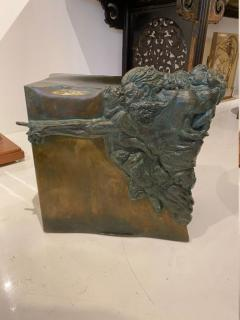 Philip and Kelvin LaVerne Rare pair of bronze side tables Creation of Man by Philipp and Kelvin LaVerne - 1387351