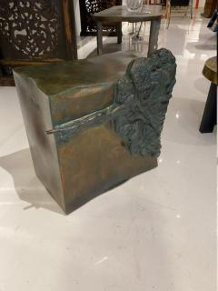 Philip and Kelvin LaVerne Rare pair of bronze side tables Creation of Man by Philipp and Kelvin LaVerne - 1387352
