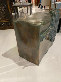 Philip and Kelvin LaVerne Rare pair of bronze side tables Creation of Man by Philipp and Kelvin LaVerne - 1387353