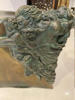 Philip and Kelvin LaVerne Rare pair of bronze side tables Creation of Man by Philipp and Kelvin LaVerne - 1387355