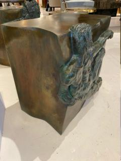 Philip and Kelvin LaVerne Rare pair of bronze side tables Creation of Man by Philipp and Kelvin LaVerne - 1387356