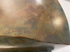 Philip and Kelvin LaVerne Rare pair of bronze side tables Creation of Man by Philipp and Kelvin LaVerne - 1387360