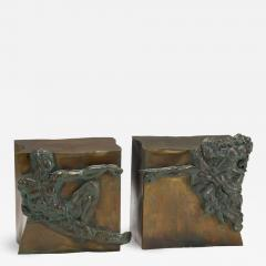 Philip and Kelvin LaVerne Rare pair of bronze side tables Creation of Man by Philipp and Kelvin LaVerne - 1388342