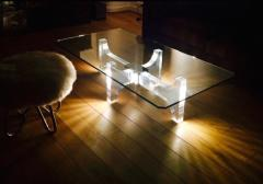 Philippe Jean Lightning Lucite and Metal Coffee Table by Philippe Jean France 1970s - 1190448