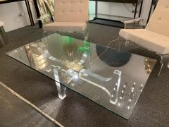 Philippe Jean Lightning Lucite and Metal Coffee Table by Philippe Jean France 1970s - 1190449