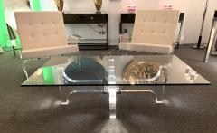 Philippe Jean Lightning Lucite and Metal Coffee Table by Philippe Jean France 1970s - 1190452