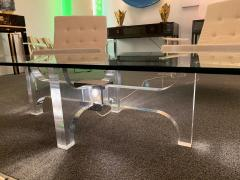 Philippe Jean Lightning Lucite and Metal Coffee Table by Philippe Jean France 1970s - 1190453