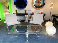 Philippe Jean Lightning Lucite and Metal Coffee Table by Philippe Jean France 1970s - 1190455
