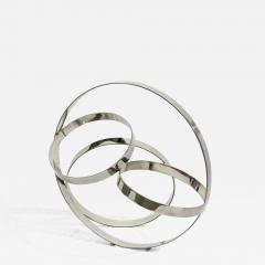 Philippe Pallafray Four Ring Polished Stainless Steel Temps Zero - 1059997