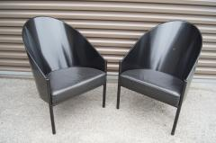 Philippe Starck Black Lacquer and Leather Pratfall Chair by Philippe Starck - 578136