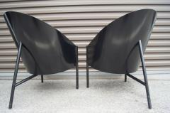 Philippe Starck Black Lacquer and Leather Pratfall Chair by Philippe Starck - 578137