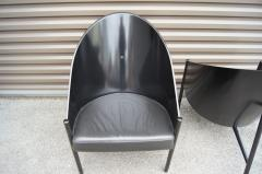 Philippe Starck Black Lacquer and Leather Pratfall Chair by Philippe Starck - 578138
